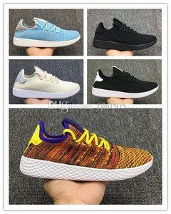 2019 Tennis Hu Mens Running Shoes Pharrell Williams x Stan Smith Women Runner Sports Shoe White Green Trainers r Sneakers EUR36-45