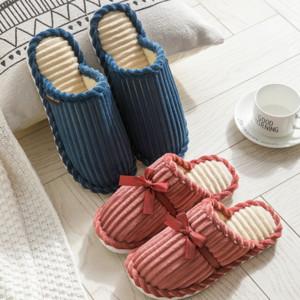 FyQfO Winter-Baumwolle Männer Kord warmindoor Antiblockier verdickten Liebhaber weichbesohlten verschleißfeste Hausschuhe für warme slippersWick Pantoffeln wome