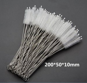 Stainless Steel Drinking Straws Cleaning Brush Pipe Tube Baby Bottle Cup Reusable Household Cleaning Tools 200*50*10mm 7733