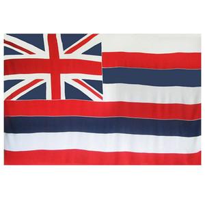 Hawaï État du pavillon des Etats-Unis Bannière 3x5 FT 90x150cm Festival du Parti cadeau Sport 100D Polyester Intérieur Extérieur Imprimé Vente chaude