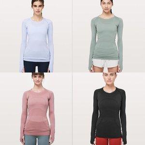 women designers Coat Sleeves N669 Swiftly Tech Crew fashion yoga lu womens sports workout seamless pink camo sport S-XL 17F4#