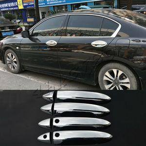 For Honda Accord 2013-2016 Chrome Side Door Handle Cover Trim W  Smart Key Holes