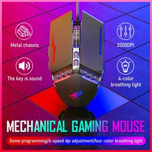 Professional Gaming Mouse Mechanical Wired Silent Mouse 3200dpi 7 Buttons Backlit Computer Support Macro Definition