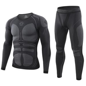 winter Top quality thermo Cycling clothing Men's thermal underwear men underwear sets compression training men clothin