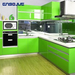 0.4x5M Kitchen Cabinet Waterproof Stickers Furniture Wardrobe Table Door Self Adhesive Wallpaper Solid Color Paint Wall Sticker T200609