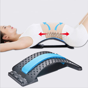 Back Stretch Equipment Massager Massageador Magic Stretcher Fitness Lumbar Support Relaxation Spine Pain Relief Traction Board VTKY2261