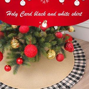 120-122cm Рождественская елка юбки Ковер фона двери Мат фон циновка двери Дерево Фартук Рождественские украшения