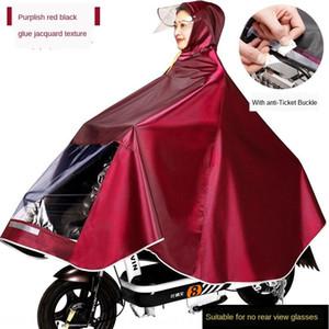 Electric Vehicle Jacquard ispessite Electric Vehicle Moto Batt e tessuto Poncho mascherina maschio Raincoat Moto Adulta Safet Itvk