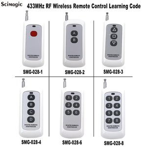 433MHz و1CH 2CH 3CH 4CH 6CH 8CH اللاسلكية التحكم عن بعد الارسال 1 2 3 4 6 8 أزرار رمز التعلم