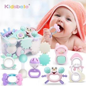 Baby Rattle Toys 0-12 Months Jingle Shaking Bell Infant Toys For Newborns Baby Rattles Teether Grip Handbell Toddler Toys 201221