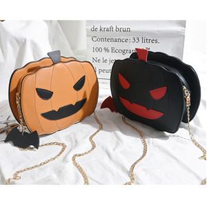 Halloween Pumpkin Crossbody Bag Women Handbag Tote Trick Or Treat Little Devil Shoulder Messenger Bag Girls Candy Bag