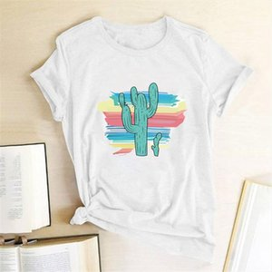 Shirt Cactus Tees Graphic Women Harajuku Fashion T Tees Slim Fit Cute Girls Tshirts Colored Tops For Gift Summer Girlfriends Tojll