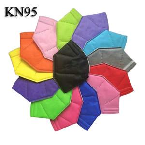 kn95 máscara ffp2 máscara de cara máscara desechable kn95 no tejido a prueba de polvo a prueba de viento tela de respirador protectora de tela colorida para hombres mujeres