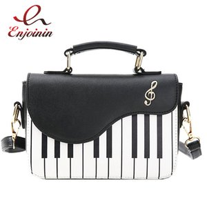 ENJOINI bonito Piano Moda Padrão PU Leather Casual Senhoras Bolsas e Handbag Shoulder Bag Crossbody Messenger Bag bolsa C1009