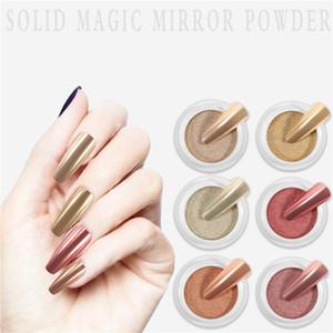 Nail Art Сплошное волшебное зеркало порошок маникюр натуральный лазерный порошок DIY украшения для ногтей блеск титановый порошок