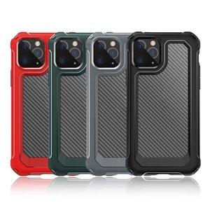 جديد وصول ألياف الكربون صدمات حالة فون XS 11 برو ماكس XR 6 7 8 زائد أكياس الهاتف المحمول شفافة الكريستال