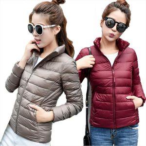 Women Winter Coat 2018 New Ultra Light White Duck Down Jacket Slim Women Winter Puffer Jacket Portable Windproof Down Coat S 6XL
