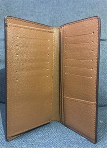Brown pasaporte estuche de viaje con cremallera redonda Nueva cartera Zippy Monedero Negro Brazza hombres cuero de la PU del bolso del sostenedor Damier ninguna caja de embrague