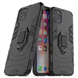 Luxury Armor Soft Shockproof Case for iphone 11 Pro Max 12 mimi XR XS X 8 7 6 Plus 5S SE 5C Silicone Car Holder Ring phone cover
