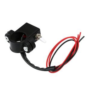 Interruptor de luz de advertencia de doble flash de doble flash de la motocicleta 2.2cm 2.5 cm de diámetro Manillar DIY Interruptor de encendido de apagado Accesorio para moto Scooter ATV