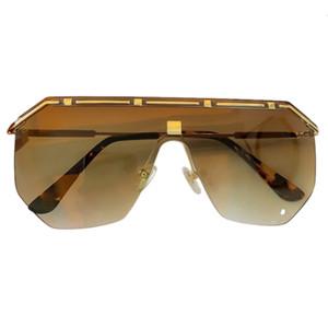 Boy Büyük Kadın Marka Tasarım Metal Yarım Çerçeve Güneş Gözlüğü Vintage Erkekler Gözlük Orijinal Kutusu Ile UV400