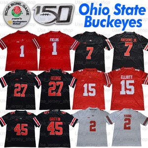 Ohio State Justin Fields Buckeyes Jersey JK Dobbins Chase Young 15 Elliott Dwayne Chris Olave Nick Bosa Archie Griffin Eddie George