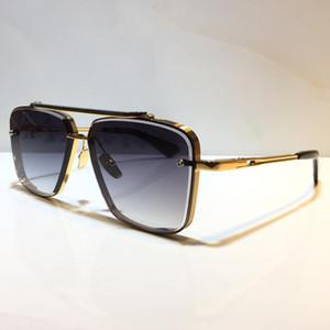 Мужчины популярные модели M Шесть солнцезащитных очков Металл старинные моды стиль очки солнцезащитные очки квадратные безрамоглазные UV 400 объектив поставляются с пакетом классический стиль