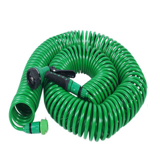 Watering Irrigation Spring Tube Car Wash Water Gun 8 Function with Nozzle 25FT Flexible Portable Expandable Garden Water Hose T200530