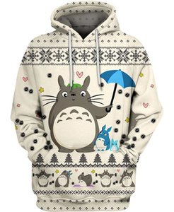 PLstar Cosmos totoro and friends 3D All Over Printed Shirts 3D Print Hoodie Sweatshirt Zipper Man Women Merry Christmas hoodies 201020