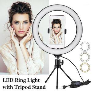 10 Zoll 26cm Neue Selfie Ring Light Flash LED Kamera Telefon Fotografie Desktoplampe für Smartphone Studio YouTuber Tik Tok Video1