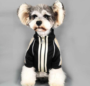 Primavera autunno vintage animali domestici giacche lettera stampa stampata schnauzer cappotto festival regalo per bulldog con cappuccio alla moda