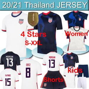 4 stars US 2020 21 PULISIC REYNA A Soccer men women kids kit Jerseys DEST MCKENNIE LLOYD MORGAN America Football United States Shirts pants