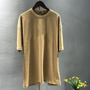 S-5XL новые мужские футболки против сжимания плюс размер женщин футболки мужская мода хлопчатобумажный человек футболки сверху с коротким рукавом большой и высокий