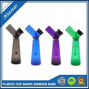 PLASTIC CUP TUBO DE AGUA CREATIVO forma de la botella 210MM ALTURA fumar narguile CON MUELA BASE COLORIDO con Box
