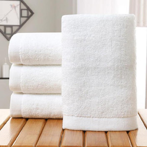 White Hotel Cotton Towel Bath Towels For Adult DIY Printing Home Hotel Towels Soft Hand Towels 35*75cm HH9-3553