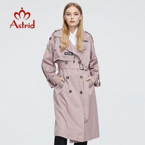 Astrid 2020 New Trench Automne Printemps long capot coupe-vent Mode grande taille femme vêtements coupe-vent Outwear 7261