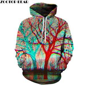 Мужские толстовки толстовки 6XL дерево 3D мужчины унисекс мода пуловер новинка уличная одежда повседневная трексуита бренд пальто мальчик капюшон