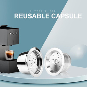 Reusable Refill Coffee for Tchibo Cafissimo & K fee ALDI Expressi coffee Maker Machine Stainless Steel Metal Filter Pod