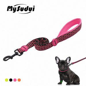Мягкий Мягкий поводок собаки Собака Запуск Поводок нейлон Регулируемый Обучение для собак Кошки Durable Поводки Lead нашивки Mysudui F2oL #