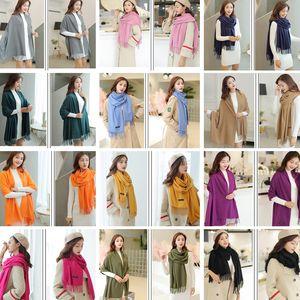 Scarfs for Women Winter Pashmina solid color scarf 200cm fashion ladies accessories warm tassel scarf 31 color Scarves Wraps CZ101302