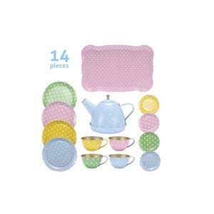 Fly AC Kinder Lernen Bildung Junge Mädchen Serie Simulation Tee-Set Spielwaren für Kinder Geburtstag / Weihnachtsgeschenk LJ201007