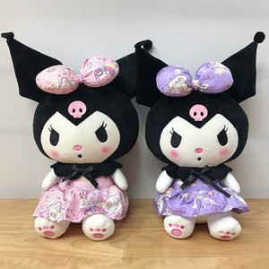 22 cm Nuevos Juguetes de peluche Kuromi Japonés JK Kuromi Soft Peluches Peluches Muñeca Ornamento Serie Dibujos animados Peluche regalo para niñas