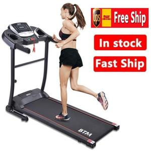 آلة المشي UK STOCK الأسود الكهربائية المطحنة للطي الميكانيكية عتبة باب الركض للاستخدام المنزلي الرياضة المكائن MS192284BAA