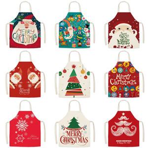 2020 Noel baskı Önlük Karikatür Noel önlükleri Noel Baba Kitchen önlükleri festivali parti Dekoru Yılbaşı Hediyeleri T9I00708