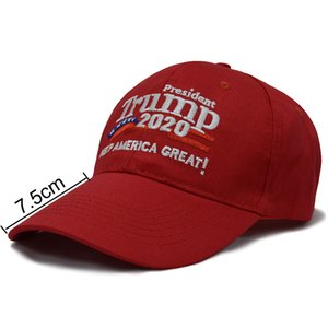 Trump 2020 Keep America Great Baseball Cap Two Styles Embroidery Cotton Adjustable Breathable Hat Outdoor Trump Unisex Caps GWD2564