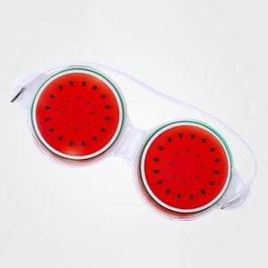 19 * 7см Ice Gel Eye Mask Маски для сна Холодный компресс Cute Fruit Gel глаз Усталость Рельефные Охлаждающие релаксации Уход глаз 3 Стиль DHB2709