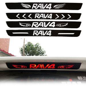 For Toyota RAV4 Rear Brake Light Sticker Refitting Special Decorative Carbon Fiber Sticker RAV4