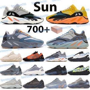 톱 700 스니커즈 남자 운동화 신발 태양 관성 아날로그 트리플 블루 블루 오렌지 스포츠 트레이너 Chaussures