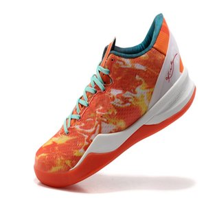 Best Mamba VIII 8 All Star Area 72 Crimson Red Orange Turquoise What The Basketball Shoes For sale With Box US7-US12