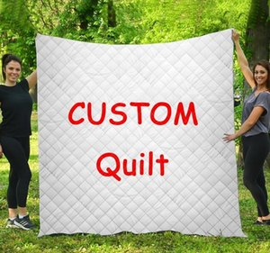 Personalized Custom Name Quilted quilt Throw Blankets Birthday Christmas thanksgiving Gifts bedding cover TapestryGG